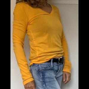 J. Crew Long Sleeve V Neck Solid Color Shirt Top